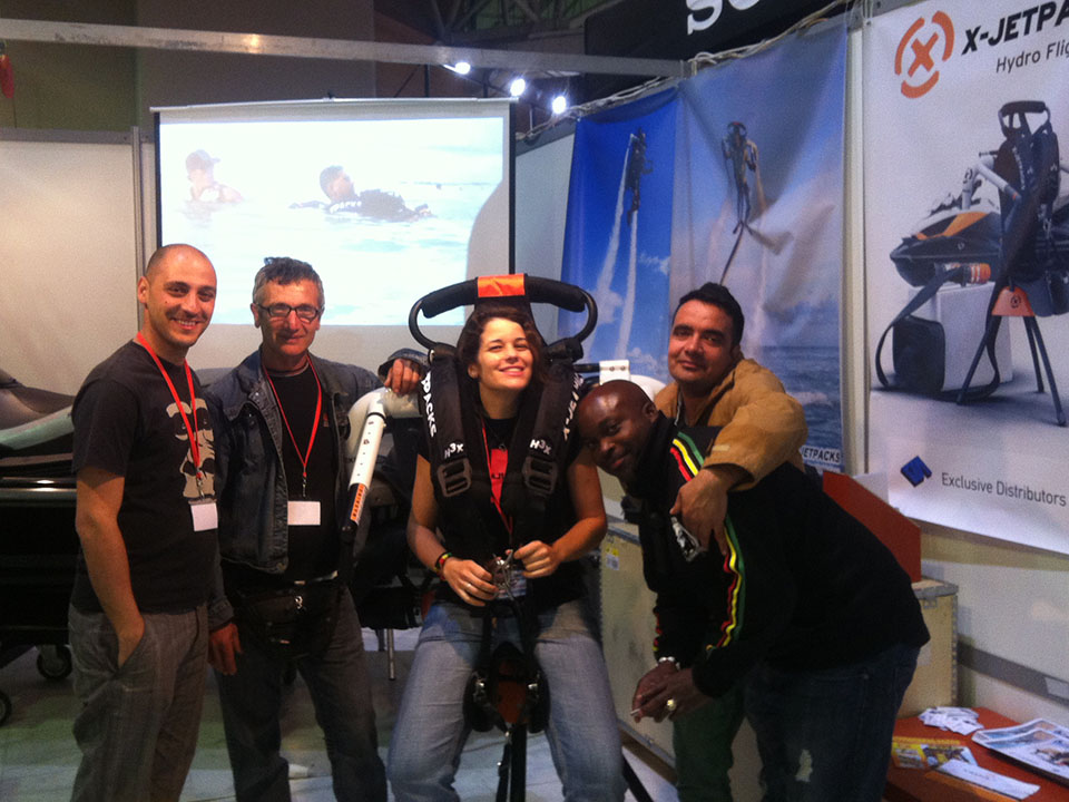 X-Jetpacks at the Athens Greece Boat ShowMe! Exhibition
