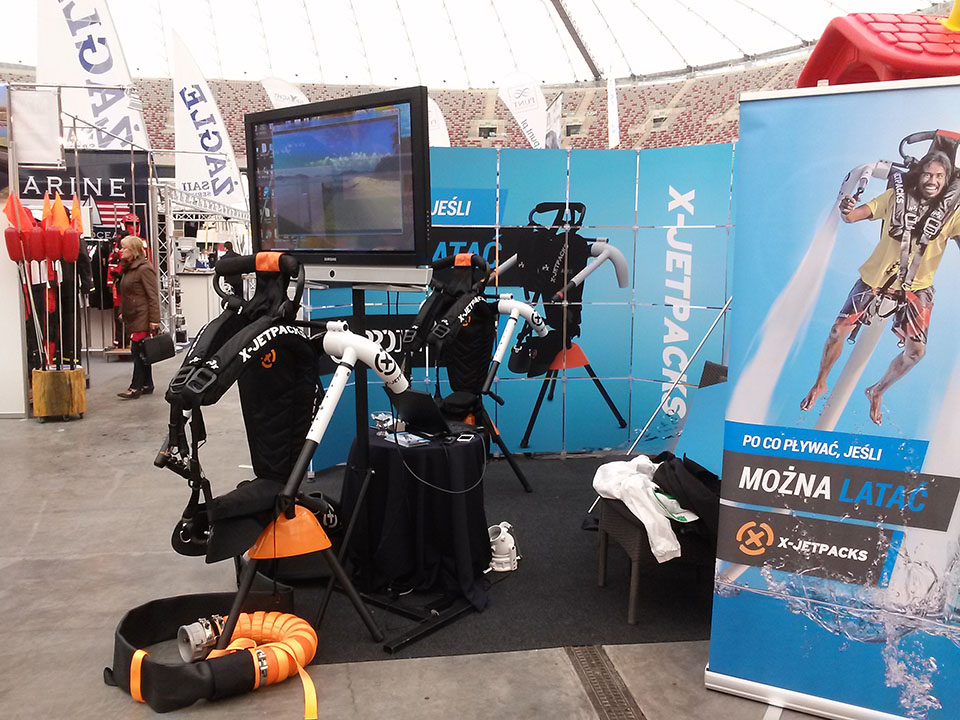 X-Jetpacks at the Warsaw Poland Boat Show 2014