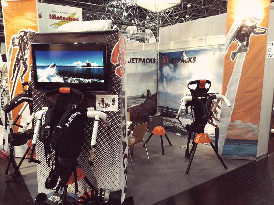 X-Jetpacks at the Dusseldorf Germany Boat Show 2014