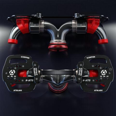 Scorpion Ninja Jetblade, two views, Flyboard successor, vastly superior in every way!
