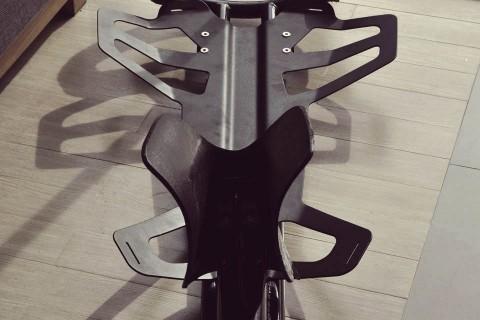 jetpack frame, saddle, and backplane